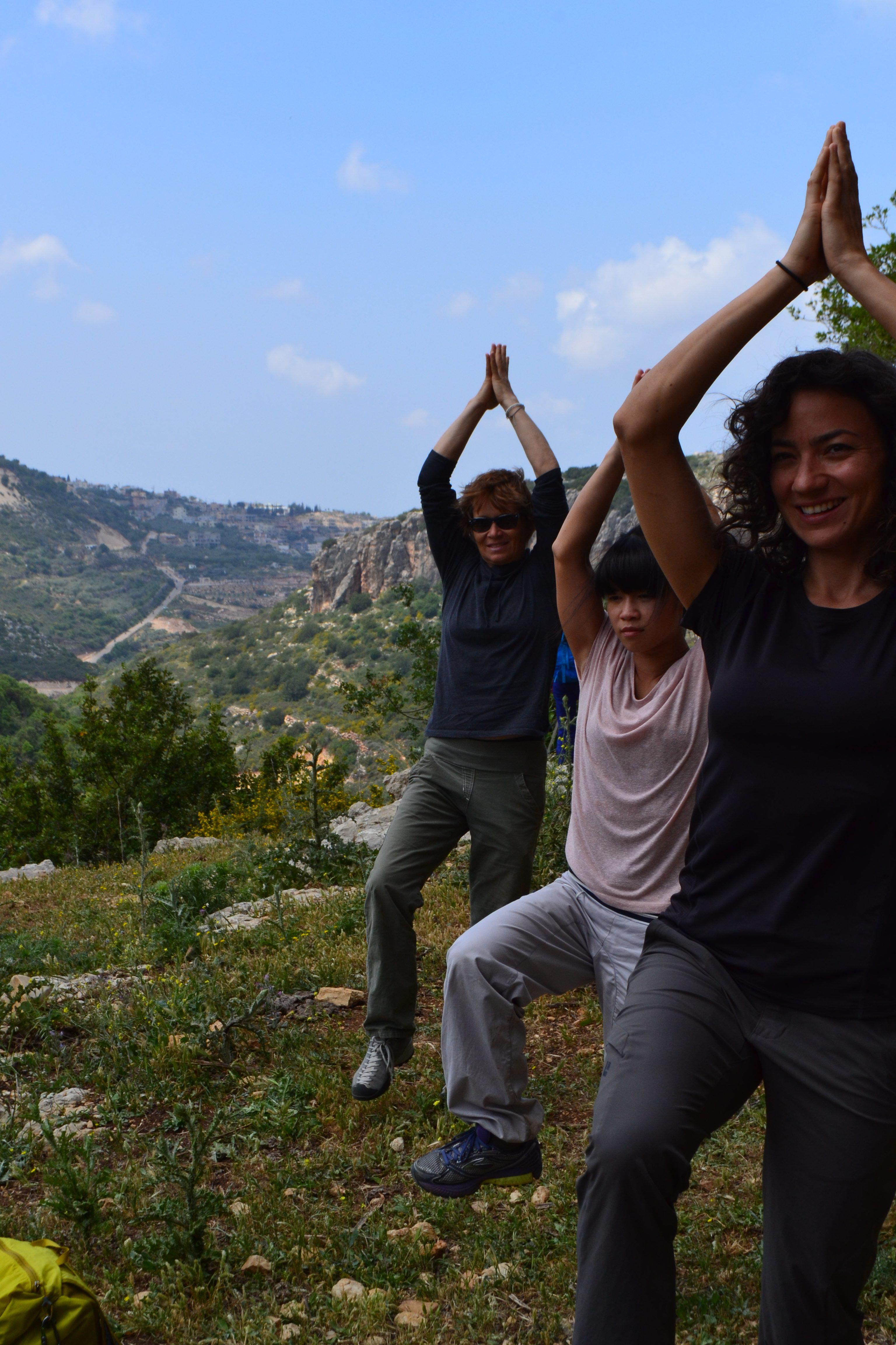 Israel Yoga Climbing
